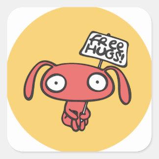 Free Bunny Hugs Square Sticker