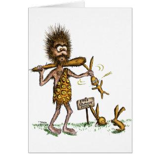 Free Bunny Rides - Caveman Cards