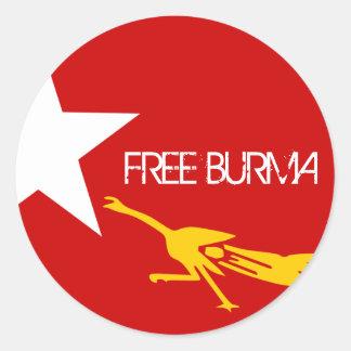 FREE BURMA ROUND STICKER