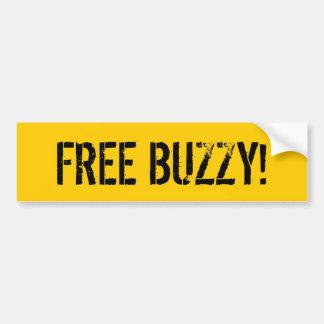 FREE BUZZY! BUMPER STICKER