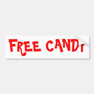 Free Candy Bumper Sticker