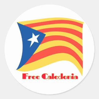 Free Catalonia Classic Round Sticker
