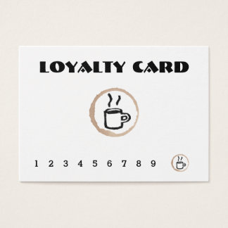 Free Coffee Coffee Shop Loyalty Card
