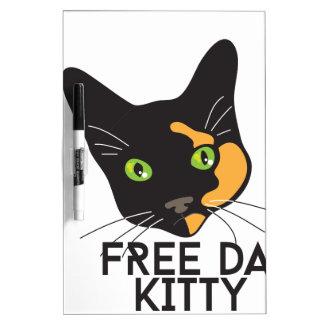 Free Da Kitty Dry Erase Board