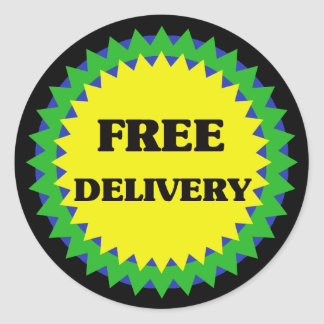 FREE DELIVERY Retail Sale Sticker
