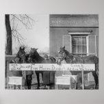 Free Dinner for Horses, 1923 Print