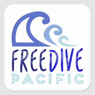 Free dive pacific square sticker