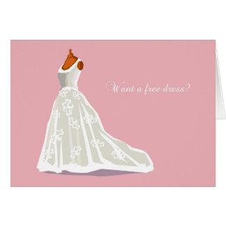 Free Dress Bridesmaid Card