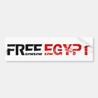 FREE EGYPT BUMPER STICKER