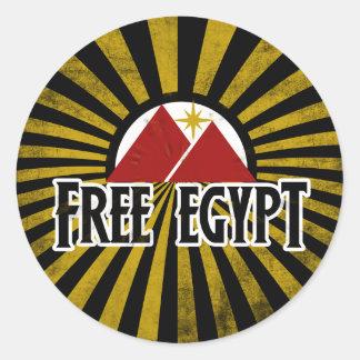 Free Egypt Classic Round Sticker