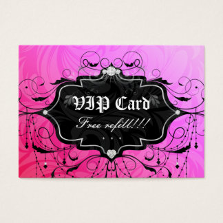 Free Eyelash Refill VIP Gift Card Pink Chandelier
