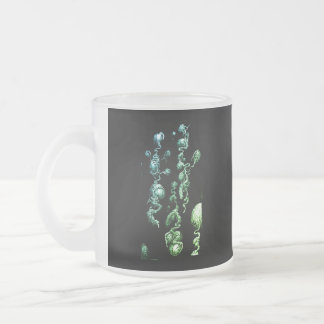 Free-floating Organic Aberrations Frosted Glass Coffee Mug
