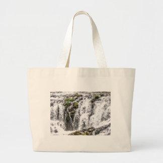 free flowing falls large tote bag