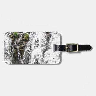 free flowing falls luggage tag