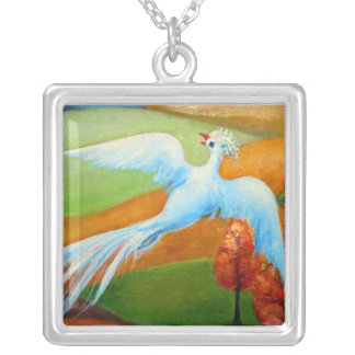 FREE FLYER SILVER PLATED NECKLACE