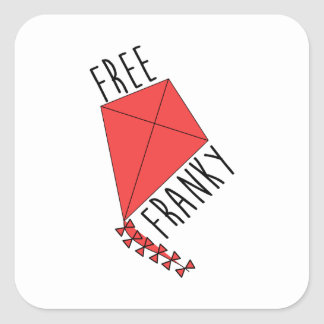 Free Franky Wentworth Square Sticker
