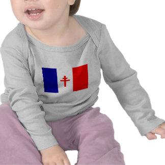 Free French Forces Flag Tshirts