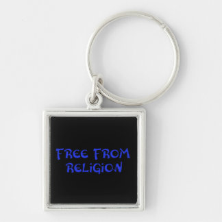 Free From Religion Silver-Colored Square Keychain