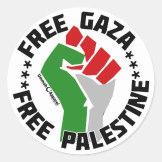 free gaza free palestine classic round sticker