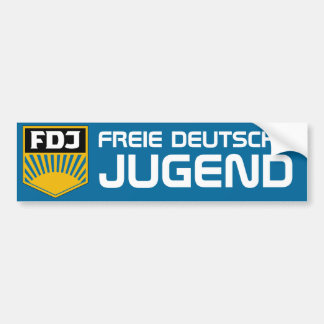 Free German Youth (FDJ) Bumper sticker