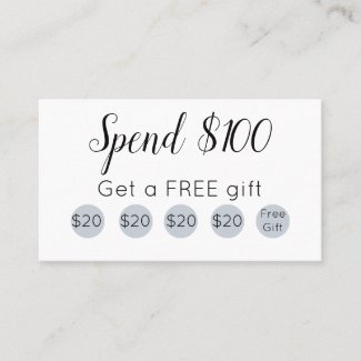 Free gift loyalty card-Loyalty programs for spas