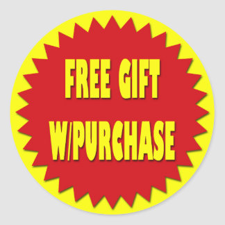 FREE GIFT WITH PURCHASE RETAIL SALES LABEL