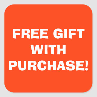Free Gift With Purchase Sticker
