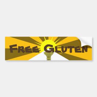 Free Gluten Bumper Sticker