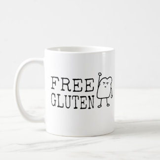 Free Gluten - Cute Funny Bread Activist Satire Coffee Mug