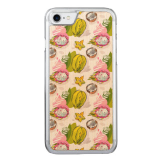 Free Hand Textured Fruit Pattern Carved iPhone 8/7 Case