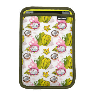 Free Hand Textured Fruit Pattern iPad Mini Sleeve
