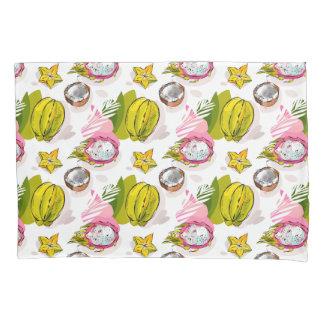 Free Hand Textured Fruit Pattern Pillowcase
