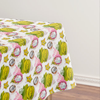 Free Hand Textured Fruit Pattern Tablecloth