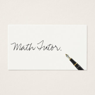 Free Handwriting Script Math Tutor Business Card