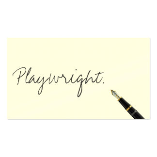Free Handwriting Script Playwright Business Card