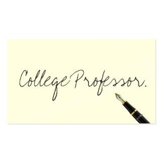 Free Handwriting Script Professor Business Card