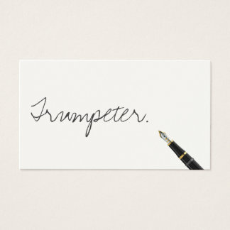 Free Handwriting Script Trumpeter Business Card