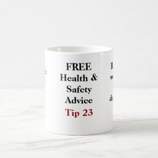 FREE Health and Safety Advice - Tip 23 Basic White Mug