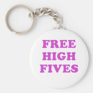 Free High Fives Basic Round Button Keychain