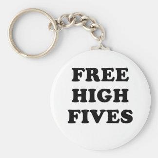 Free High Fives Basic Round Button Keychain
