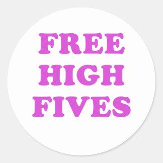 Free High Fives Classic Round Sticker