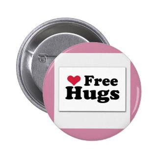 Free hugs. 2 inch round button