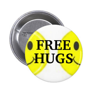 , FREE, HUGS 2 INCH ROUND BUTTON