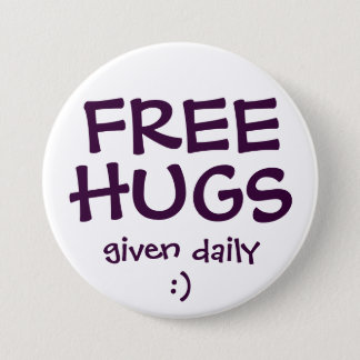 FREE HUGS 3 INCH ROUND BUTTON