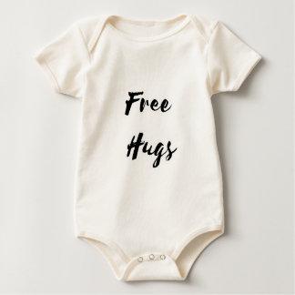 Free Hugs Black Text Baby Bodysuit