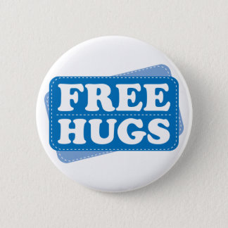 Free Hugs - Blue 2 Inch Round Button