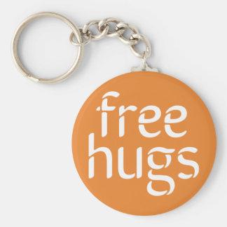 Free Hugs Button Keychain
