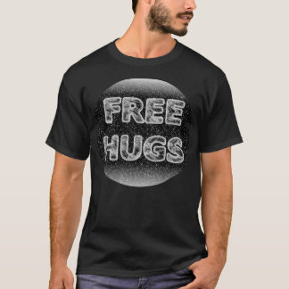 Free Hugs Cool 3D Icy Snow Effect T-shirt