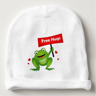 free hugs cute frog baby beanie