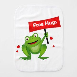free hugs cute frog baby burp cloth